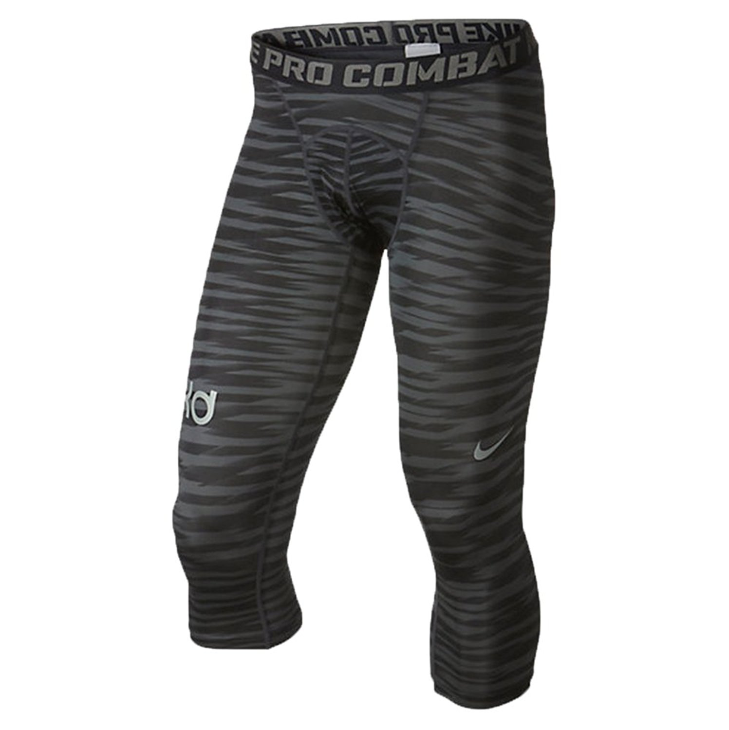 ac014571e1 Get Quotations · Nike Men's KD Pro 3/4 Basketball Compression Tights  (Medium, Anthracite/Black