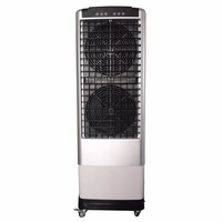 Double fan portable evaporative air cooler with 7500cmh airflow