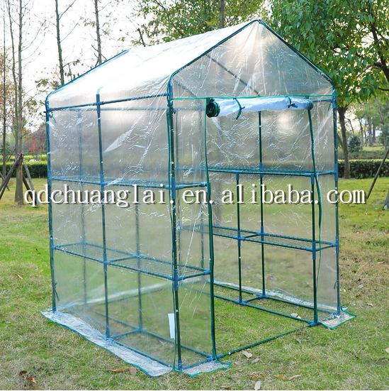 Portable Indoor Greenhouse : Fruit vegetable growing high tunnel mini greenhouse for