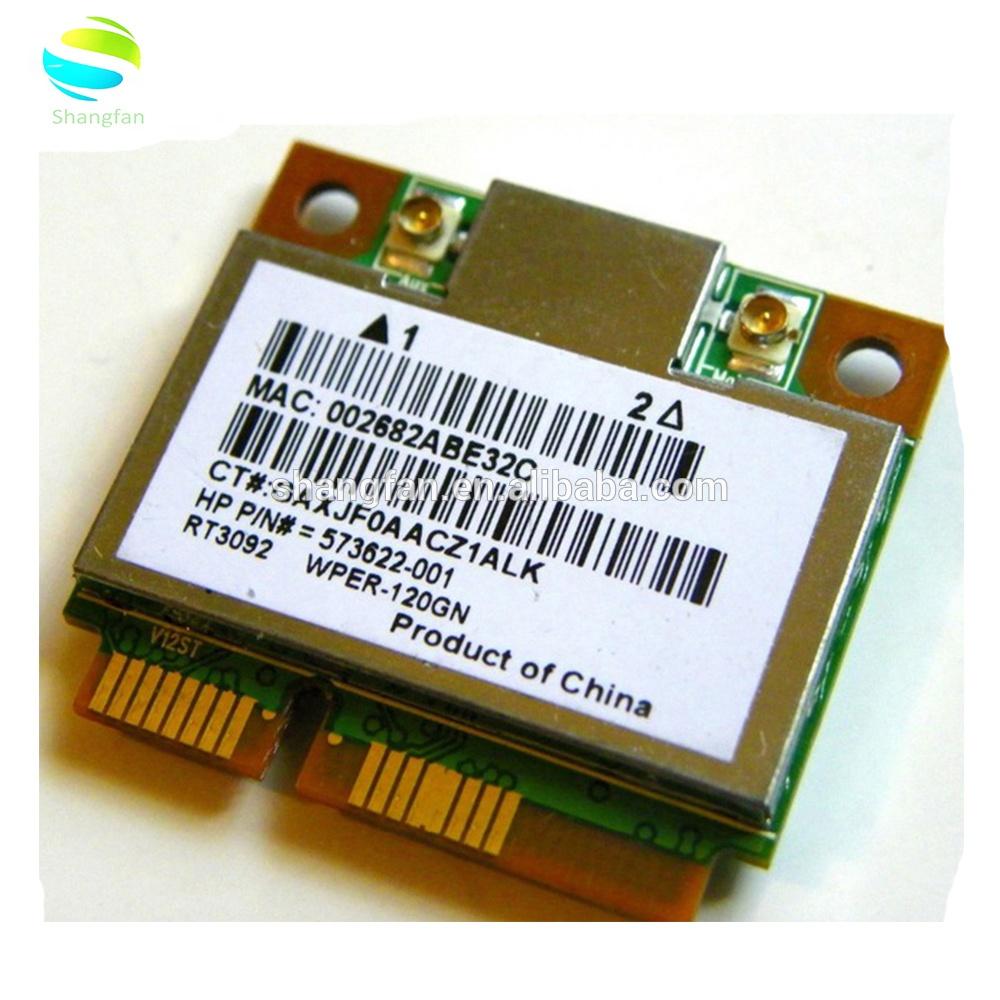 Wireless network card for Ralink RT3092 FOR HP COMPAQ 573622-001 WPER-120GN  Mini PCI-E Wifi Card Half Height 802 11 B/G/N 300M
