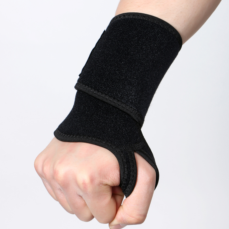 Adjustable neoprene weight lifting wrist wraps support brace