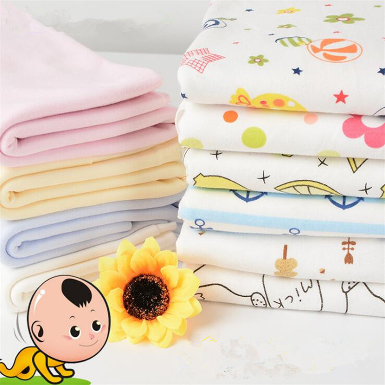 Cheap Price Flower Knitted Baby 100% Organic Cotton Fabric Wholesale