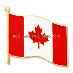 Hard enamel wholesale canadian US flag lapel pins
