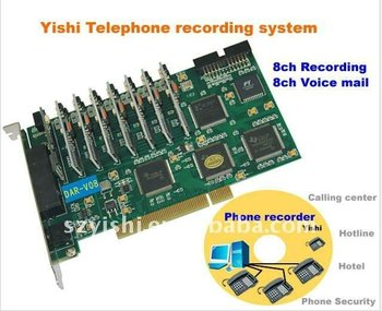 7 Line Answering Machine Voice Logger 8 Line Telephone Voice Recording  System Pci Card - Buy Answering Machine,Telephone Voice Recording,Voice