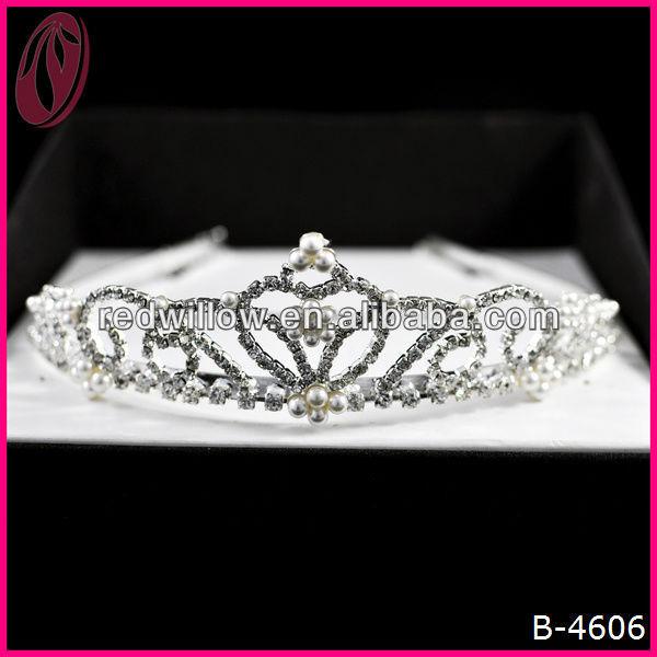Miss Beauty Queen Contoured Tiara Crown For Party