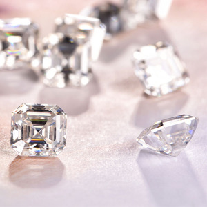 Factory directly quality guaranteed DEF color VVS1 clarity Asscher cut white moissanite loose wholesale