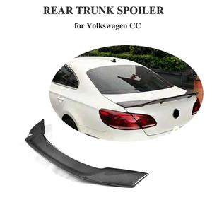 For Volkswagen VW Passat CC Carbon Fiber Rear Trunk Spoiler Boot Lip Wing R Style 2009-2018