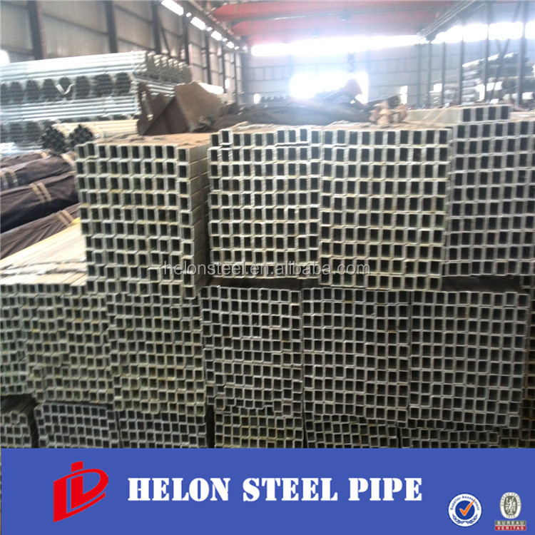 pre galvanized square tube RHS /electrical gi conduit pipe