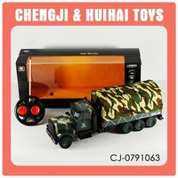 Radio control 4CH mini plastic rc toy military truck children battery power toy vehicle