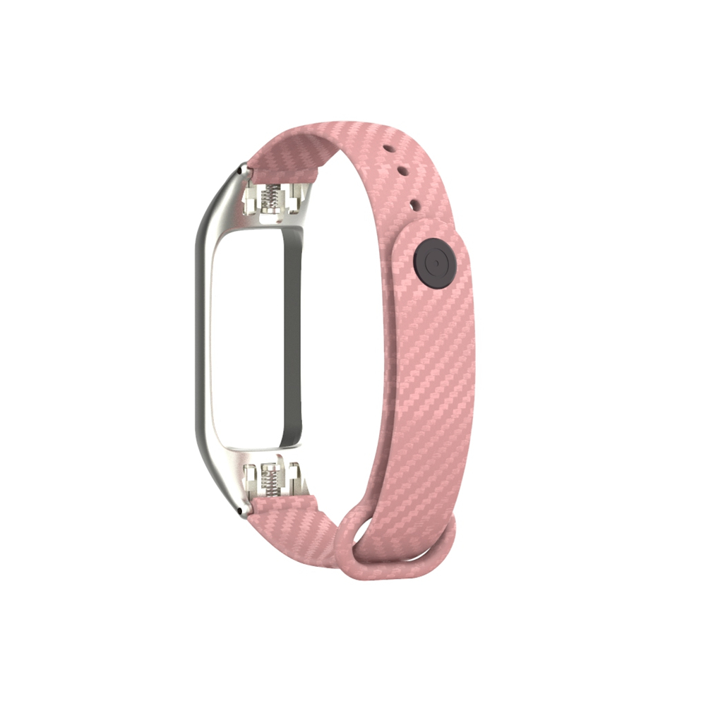 ODM Hold mi 30110 series good quality pink color silicone carbon fiber watch strap band for xiaomi band