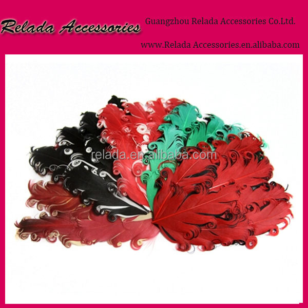 Fashion wholesale Girls cute hairbands headbands curly nagorie goose feather pads forbaby kids hairband