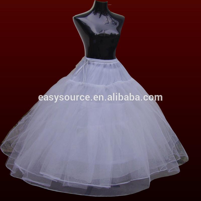 Fábrica Directamente La Venta 4 Capas Vestido Blanco De