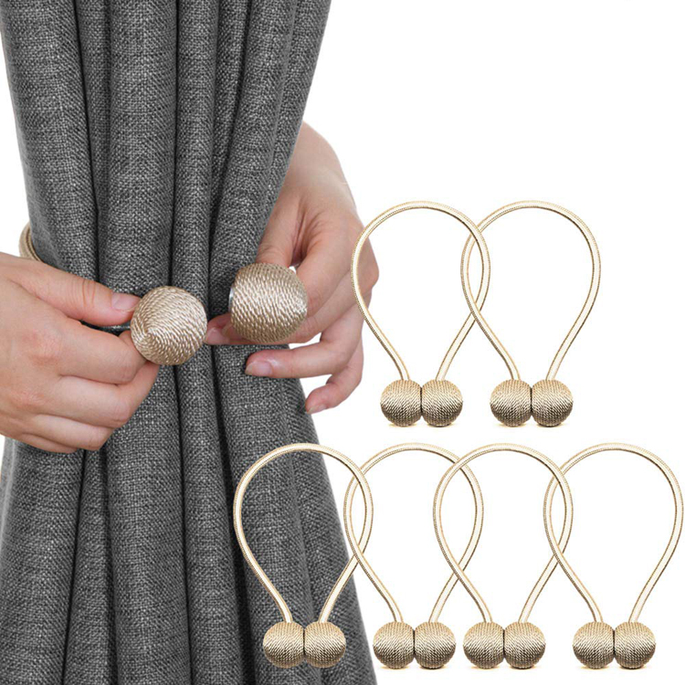 New Product Ideas 2019 16 Inches Gold Pack of 6 Magnetic Curtain Tiebacks Drapery Hooks Holdbacks With Strong Magnet for Window
