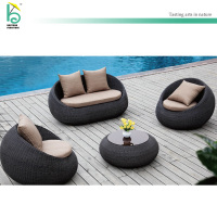 outdoor furniture PE rattan garden sofa set conversation setting