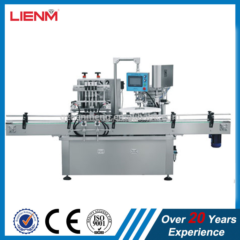 LM Newest Automatic Straight Line Liquid Filling & Capping Machine
