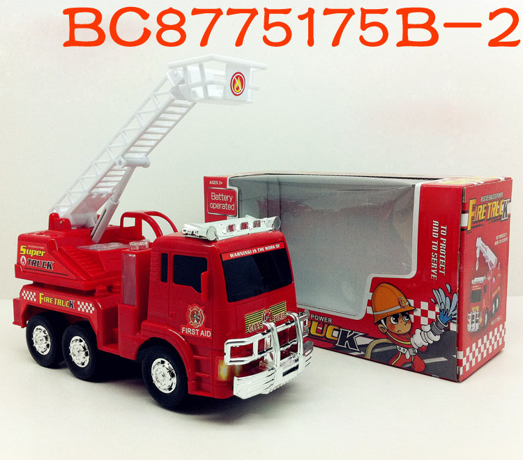 Bump and go action toys electric plastic fire truck with light and music BC8775175B-2