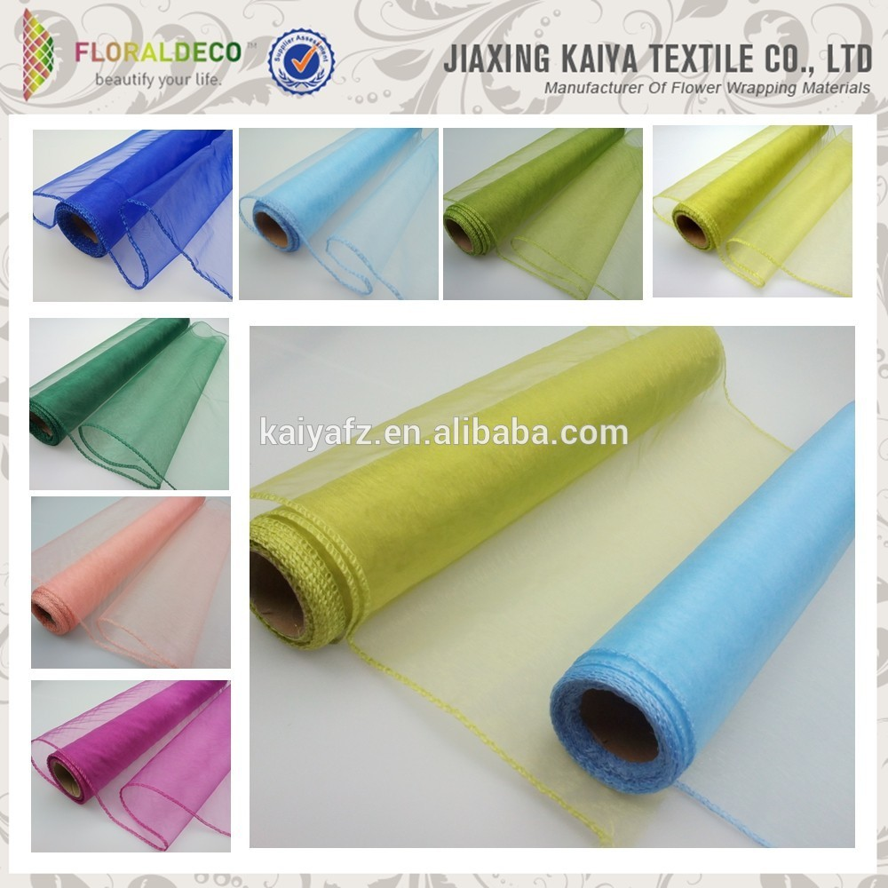 Chinese Crystal Organza Fabric Material