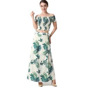 2019 Chinese New product summer sexy off shoulder maxi dress women