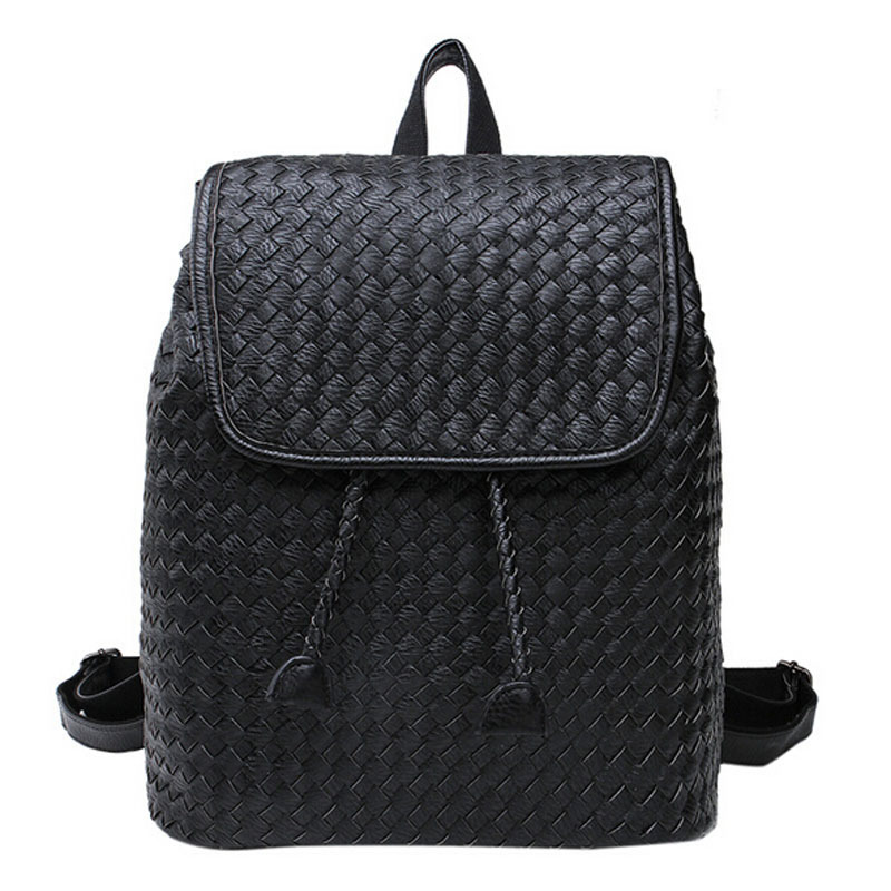 2015 New Korean Style women backpack bags High-end Vintage Candy Color Travel Bags Weave-design School Backpack 6.26-174