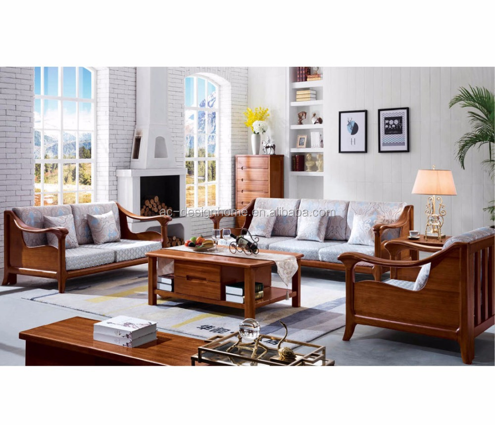 Wood Sofa Set Wooden Furniture Solid C025 Fh S03 1 Pine Designs Photos
