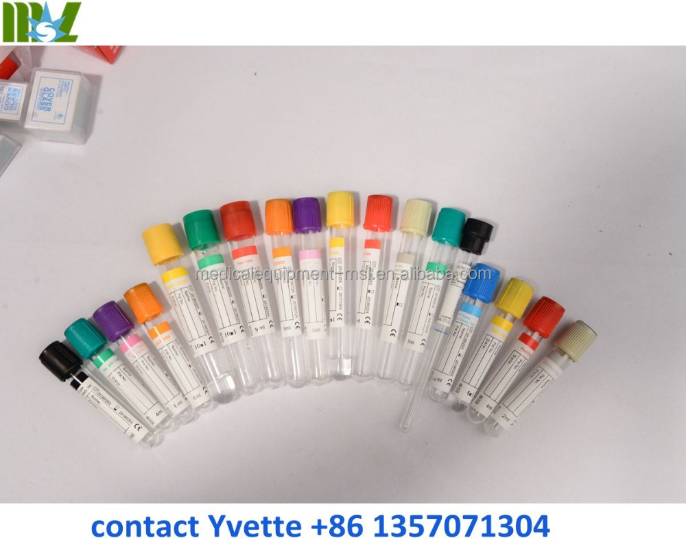 Hospital Dispoable Blood collection tube, Glass and PET vacuum blood collection tube for sale