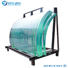 12mm curved toughened laminated glass price