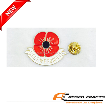 Let We Forget High Quality Wholesale Cheap Price Enamel Poppy Pin Badges  With Butterfly - Buy Enamel Poppy Badge,Poppy Pin,Poppy Badge With  Butterfly