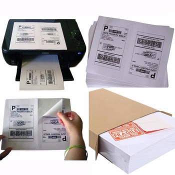 Self Adhesive Shipping Labels 2 Per Sheet Half Sheet Shipping Labels F or Laser and Inkjet Printers 2 Sheet Label