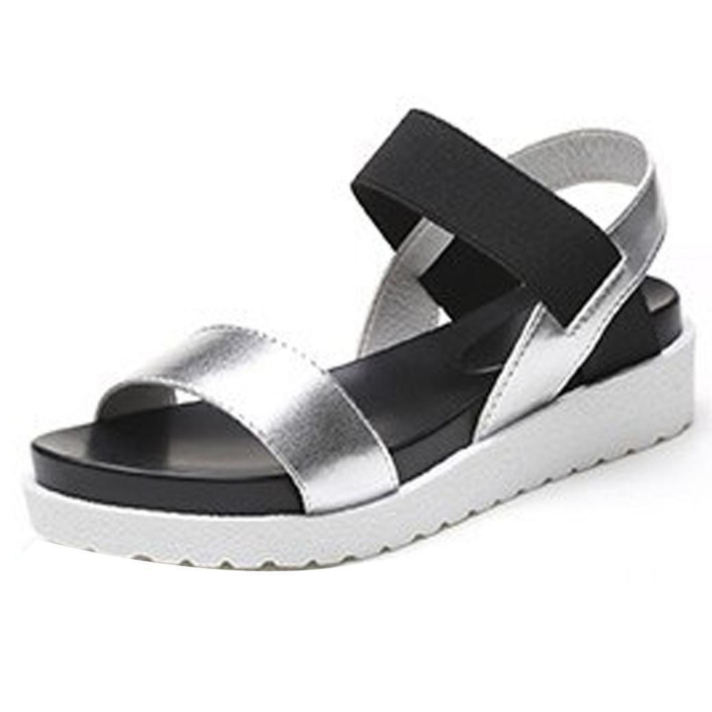 6ca2c681d Get Quotations · Gotd Women Peep-toe Low Heel Flip Flop Wedge Sandals Slide  Platform Thongs Slipper Strappy
