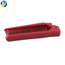 FJ brand wholesale Best-selling two handle nylon butterfly folding comb for adults