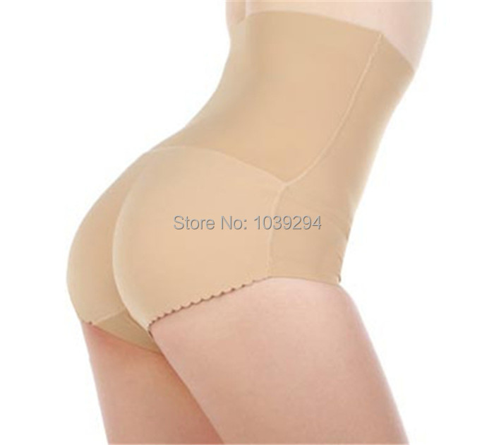 97d4fc350 Get Quotations · 2pc Lot Free Shipping Women Pad Sexy High Waist Padded  Briefs Enhancer Butt Hip Up