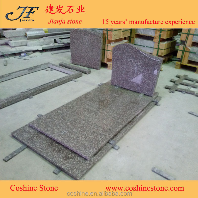 China Cheapest granite headstone Memorial Usage and European Style Tombstone
