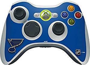 NHL St. Louis Blues Xbox 360 Wireless Controller Skin - St. Louis Blues Solid Background Vinyl Decal Skin For Your Xbox 360 Wireless Controller