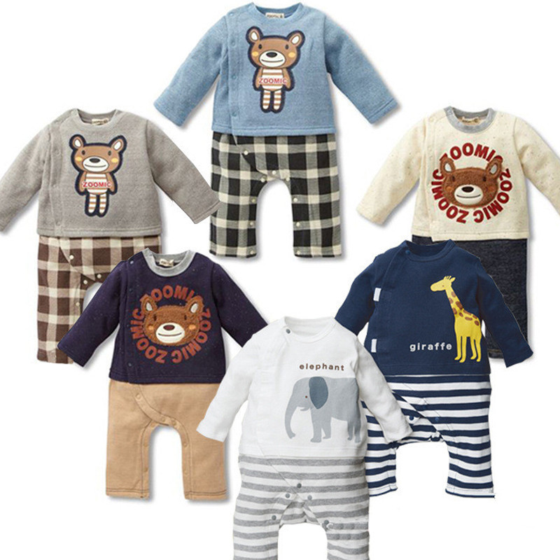 16c96f1eb95b Get Quotations · New High Quality Animal Cartoon Pattern Winter Newborn  Baby Rompers For Boy 100% Cotton Jumpsuit