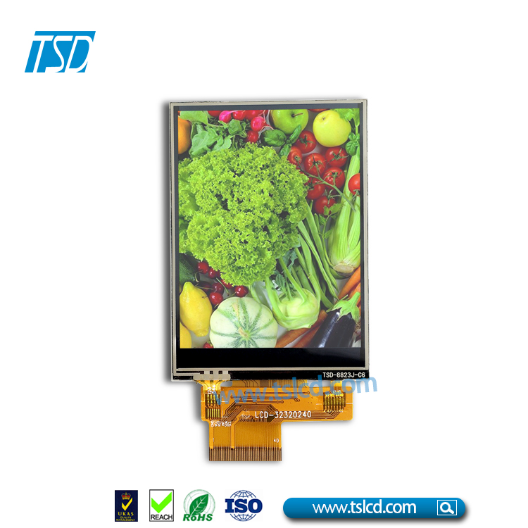 QVGA touch screen 240x320 resolution 3.2 tft lcd display datasheet on sale