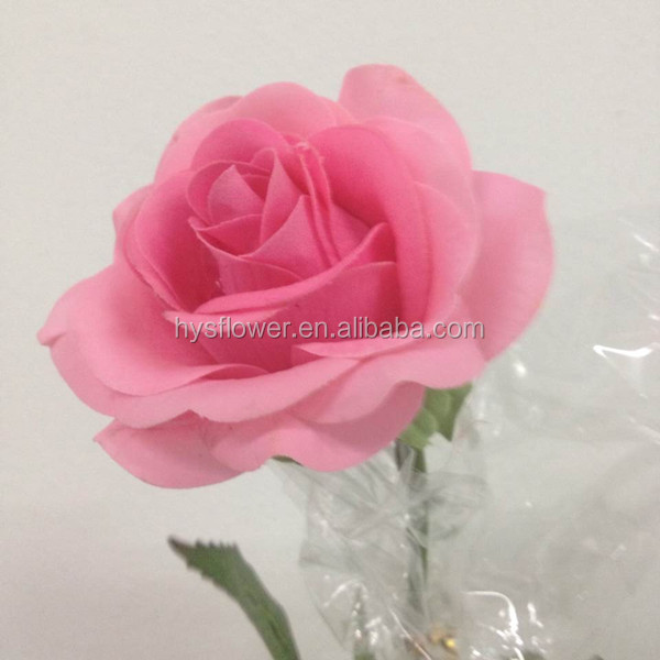 Handmade Rose Flower Making Artificial Yellow Rose Flowers ...