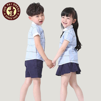 3-6 Years Old Cotton Fashion Elementary Kids School Uniforms Shirts