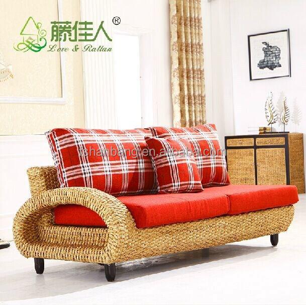 Interior moderno artesan as de mimbre tejidas a mano living room sof sof conjunto natural - Sofa de mimbre ...