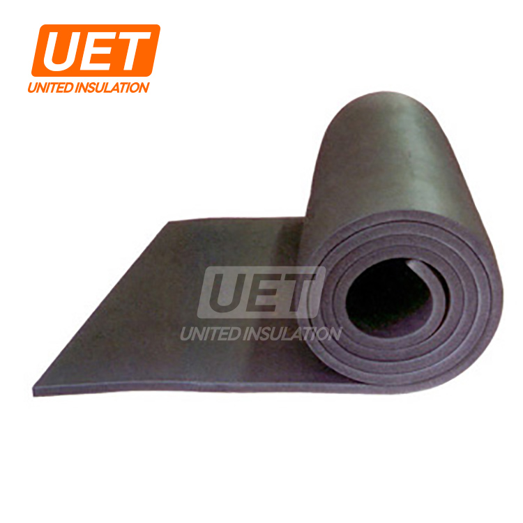 High quality rubber insulation 9mm thickness heat shield closed cell foam insulation blanket