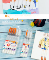 Amazon Hot Selling 3pcs&6pcs Different Shape Large Capacity Barrel Water Brush Pen Set With Oem Packaging