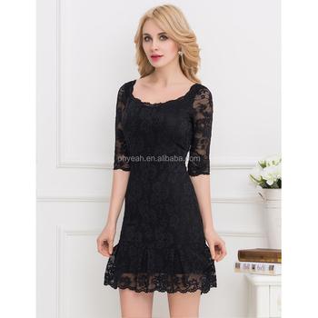 Low Moq Wholesale Plus Size Korean Girl Lace Frock Design Dress