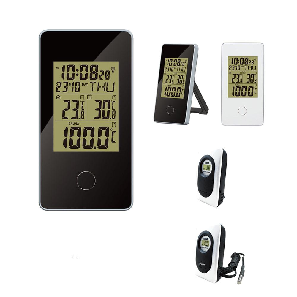 433MHz Wireless Station Clock With SAUNA Thermometer Calendar, <strong>Date</strong>