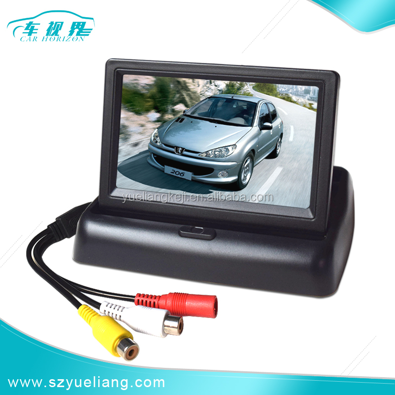 Color TFT 4.3 inch LCD CCTV Monitor with folding car display