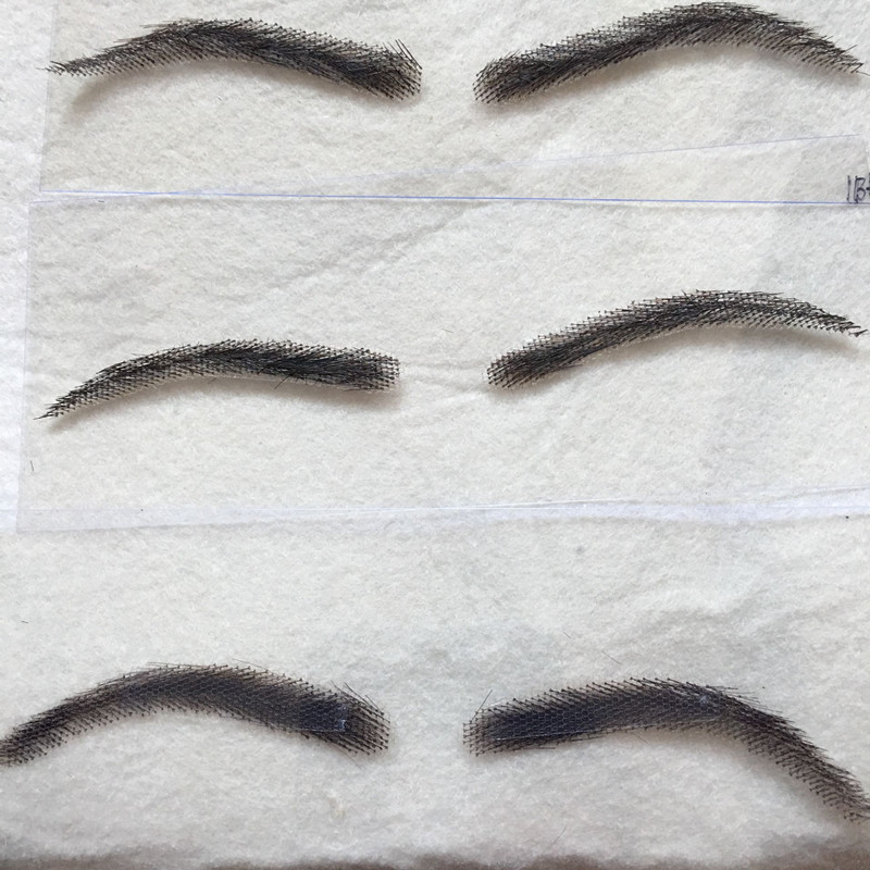 100 Human Hair Hand Made Girl Women Natural Looking Lace Eyebrows