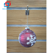 Popular Sale Red Christmas Ball with Snow Decoration