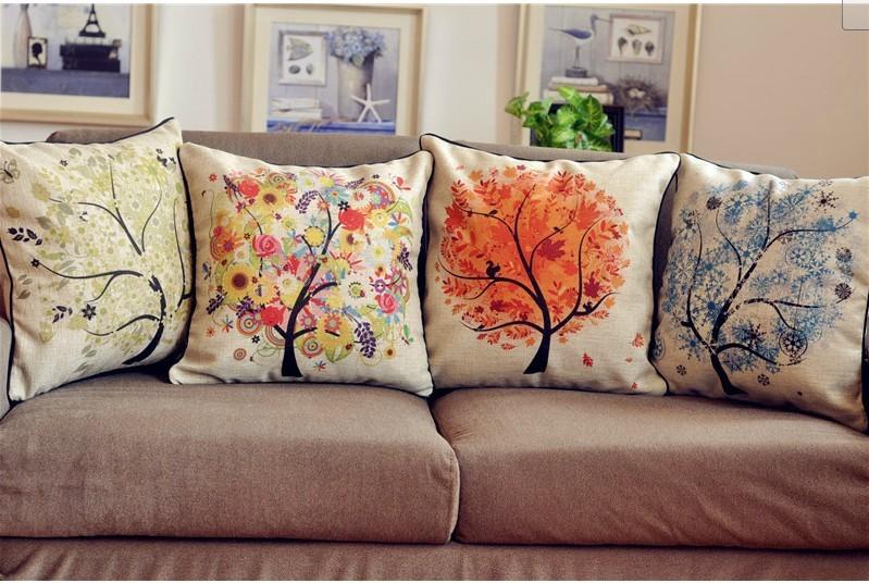 Wholesale Free Shipping Decorative Burlap Cushion Linen