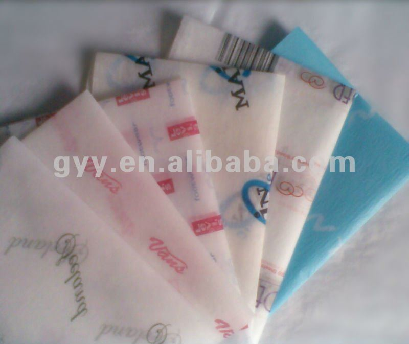 Printed tissue paper and colour tissue paper