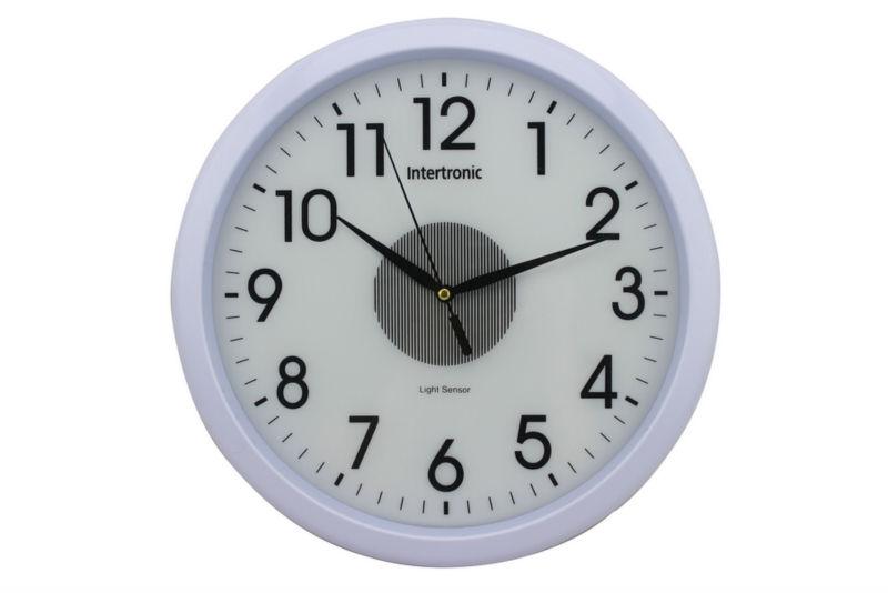 wall clock for office. Light Sensor Wall Clock/Light In The Dark Clock/office Round Clock For Office