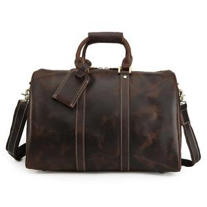 Mens Travel Leather Duffel Bag Weekend Bag Leather Travel Bag