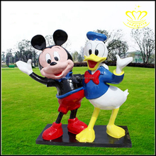 FRP fiberglass resin Mickey Mouse mickey Donald cartoon animal character sculpture
